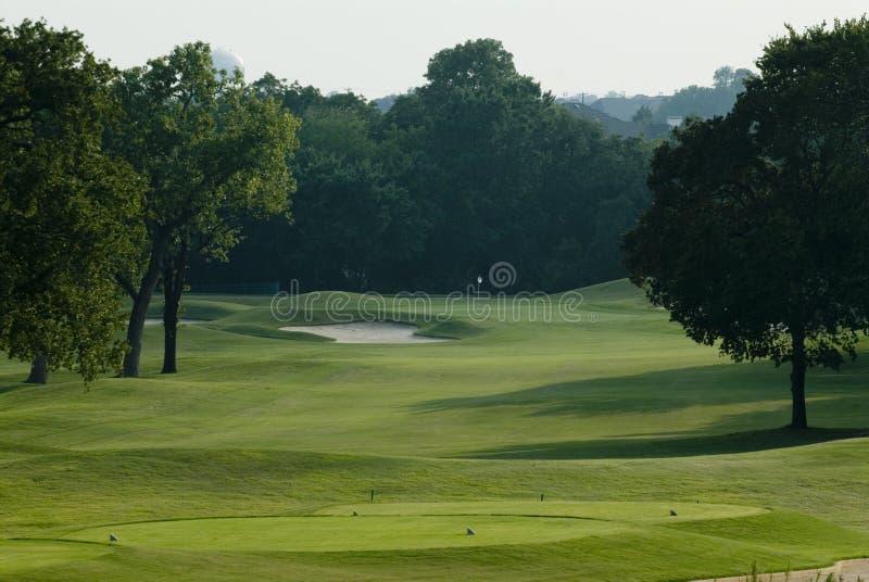 Armadilha de areia do campo de golfe imagens de stock royalty free