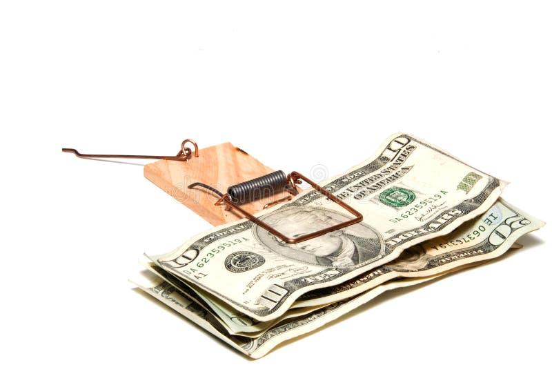 Armadilha do dinheiro imagens de stock
