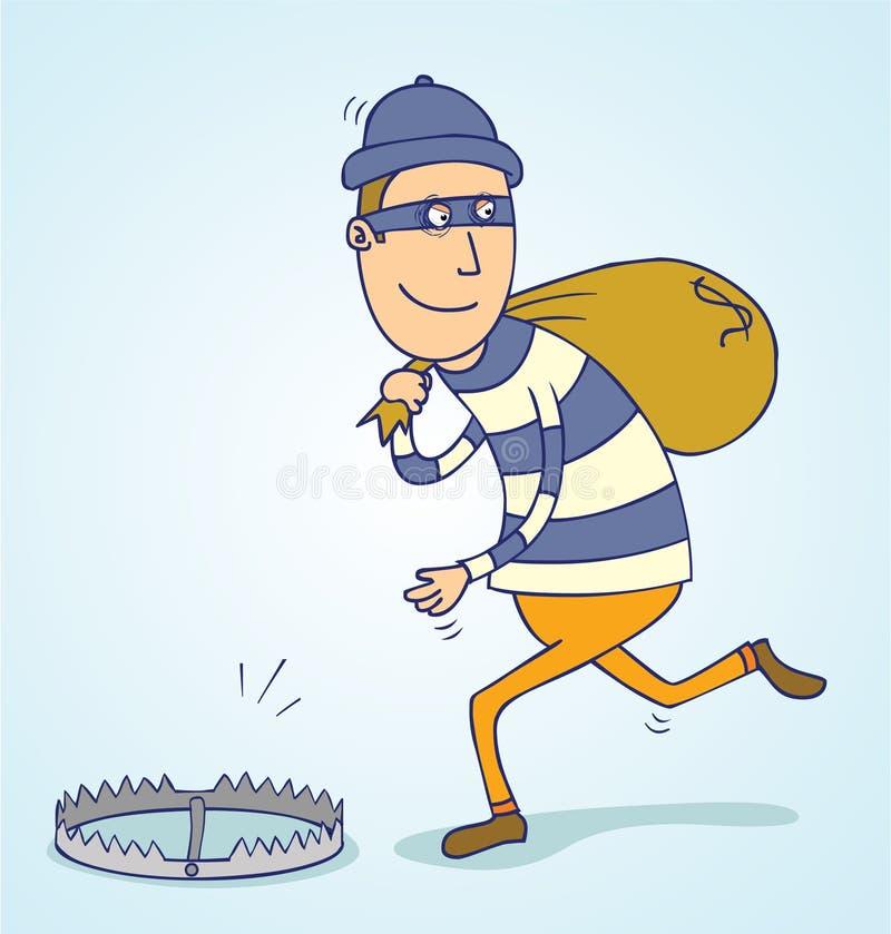 Armadilha do ladrão ilustração royalty free