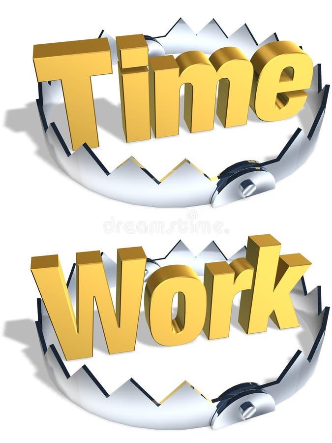 Armadilha do trabalho do tempo ilustração stock