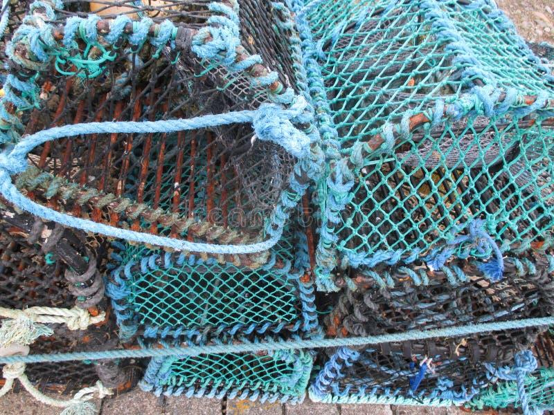 Armadilhas do caranguejo foto de stock royalty free