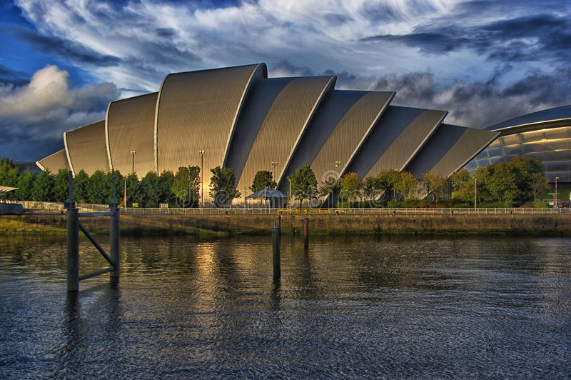 The Armadillo Glasgow. Affectionately known as the Armadillo, this is the building designed by Norman Foster Architects for the SECC, Scottish Exhibitions and stock photography