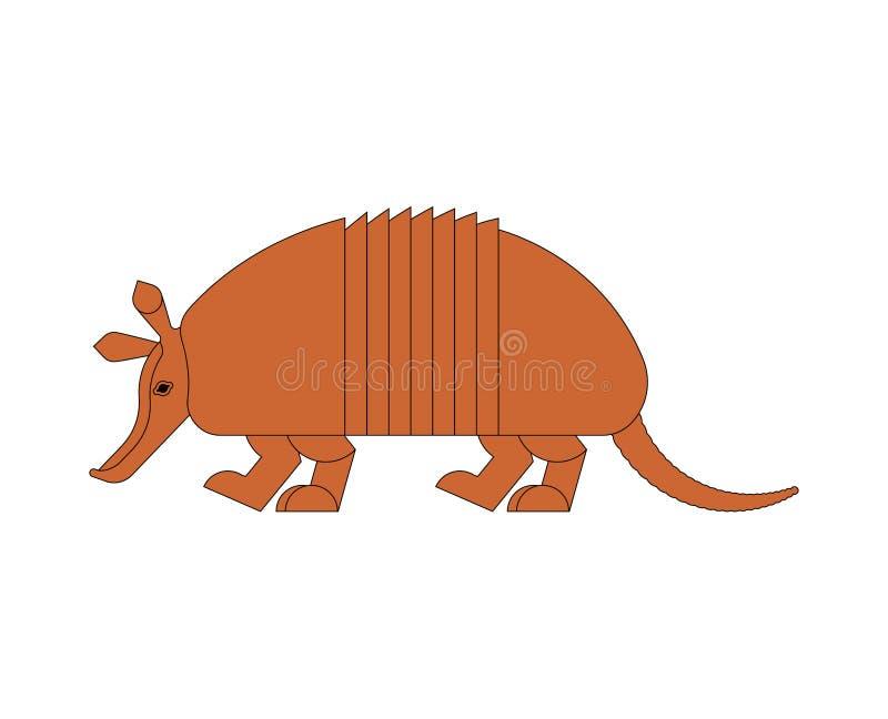 Armadillo isolated. Animal Nine-hip Armadillo vector illustration stock illustration