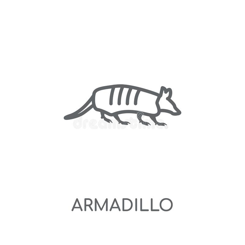 Armadillo linear icon. Modern outline Armadillo logo concept on. White background from animals collection. Suitable for use on web apps, mobile apps and print royalty free illustration