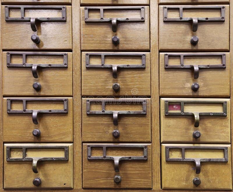 Armadio di legno del documento immagine stock