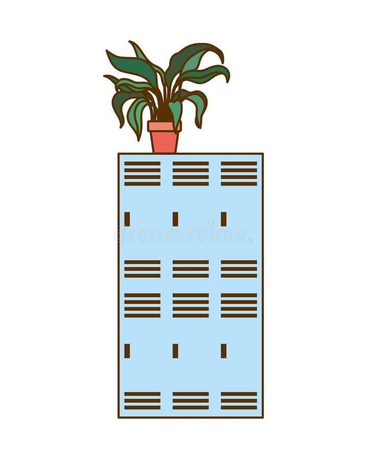Armadio di scuola su fondo bianco illustrazione di stock