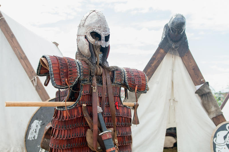 Armadura da batalha de Viking fotos de stock royalty free