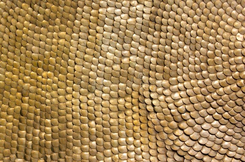 Armadura de escala de cobre amarillo de la caballería romana antigua fotografía de archivo libre de regalías