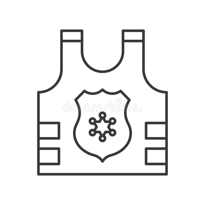 Armadura de la policía con el icono de la muestra de la insignia, movimiento editable libre illustration