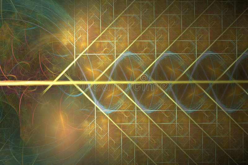 Armadura de oro del fractal stock de ilustración