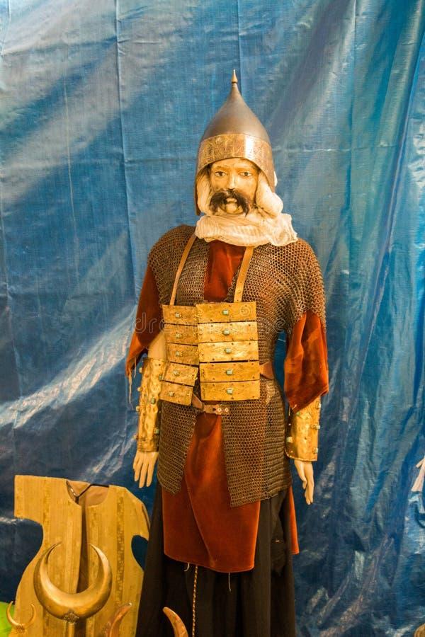 Armadura del estilo de Ottoman en figura humana en la exhibición imagenes de archivo