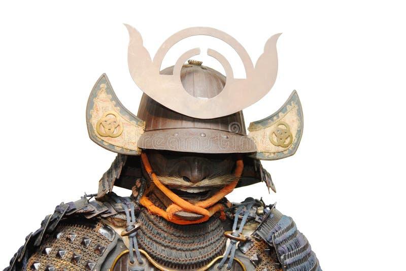 Armadura del samurai aislada en blanco imágenes de archivo libres de regalías
