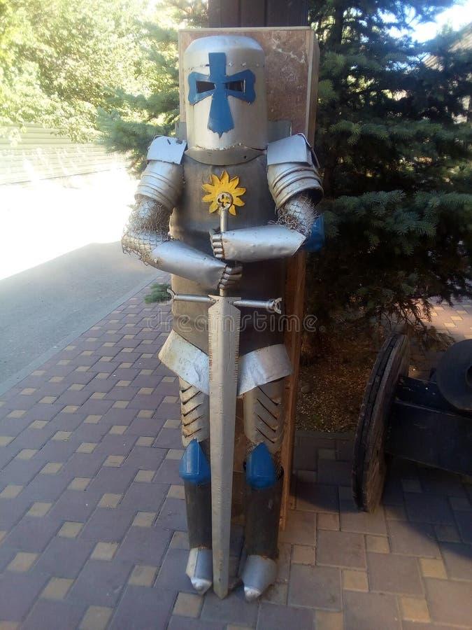 Armadura do cavaleiro medieval, imitação decorativa foto de stock royalty free