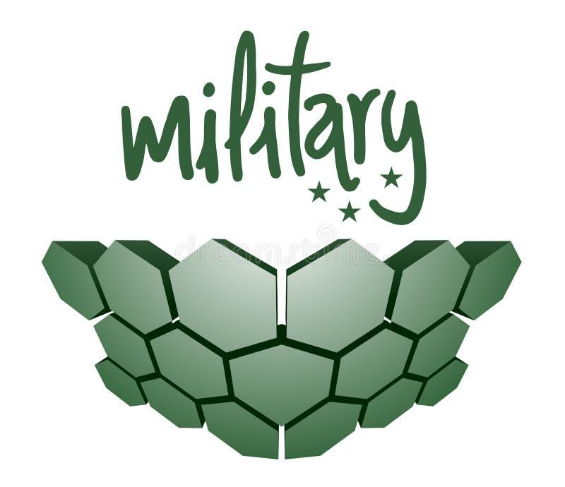 Armadura dura militar ilustração royalty free