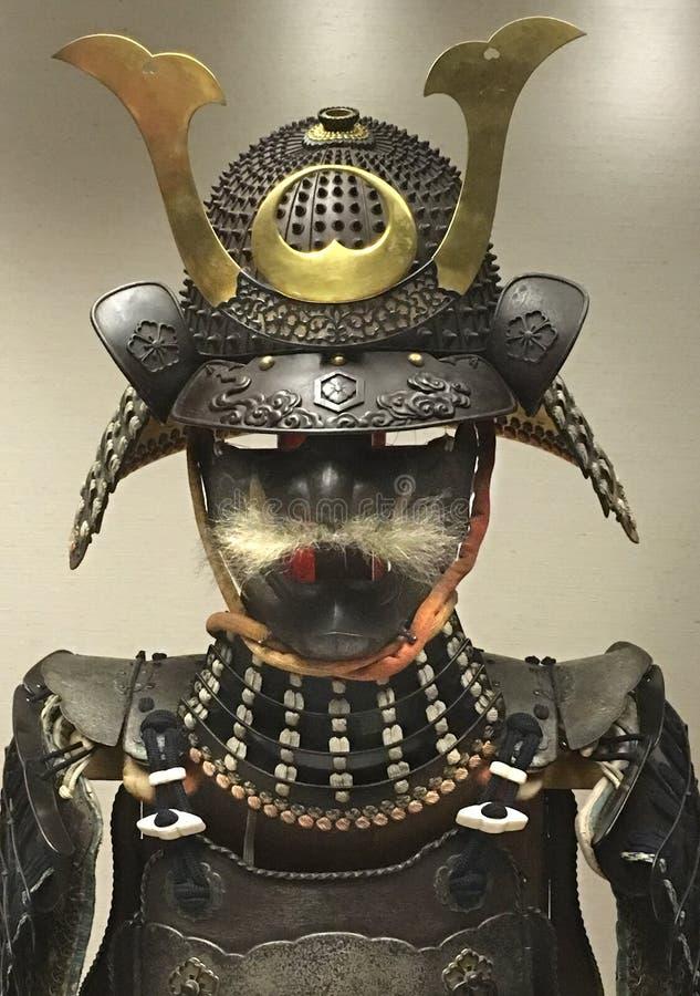 Armadura japonesa del samurai - British Museum imagen de archivo libre de regalías