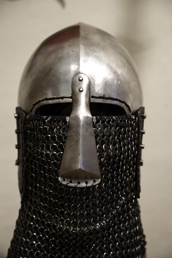 Armadura medieval de los cascos foto de archivo libre de regalías