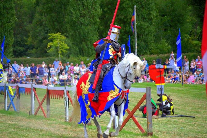 Armadura medieval do cavaleiro escocês imagens de stock