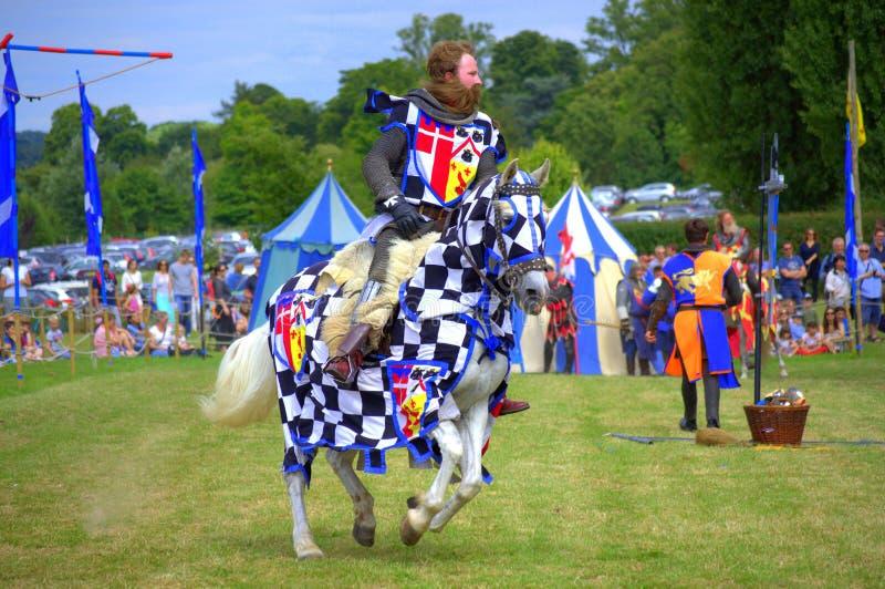 Armadura medieval do cavaleiro escocês imagem de stock royalty free