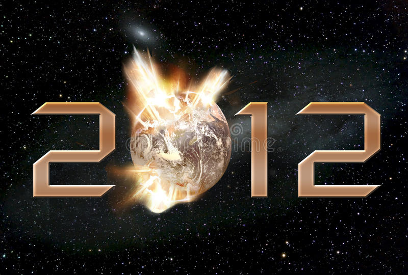 Armageddon 2012 ilustração stock
