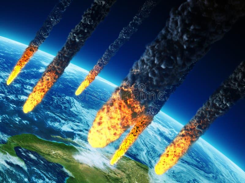 Armageddon do planeta ilustração royalty free