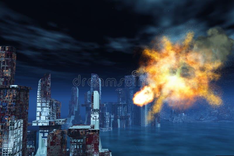 Armageddon en Nueva York stock de ilustración