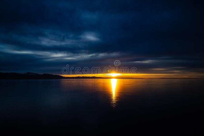 Armageddon at Lake Constance. Armageddon lake constance sunset summer langenargen teavel travel landscape clouds sky stock photo