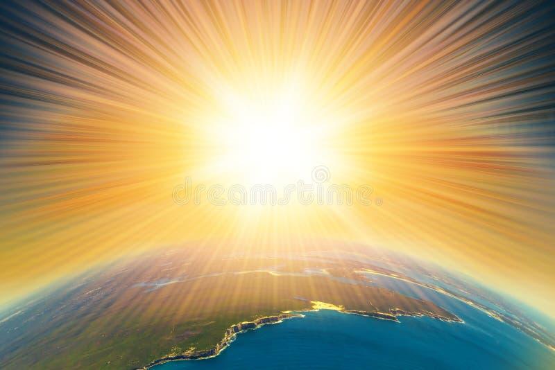 Armageddon na terra imagens de stock