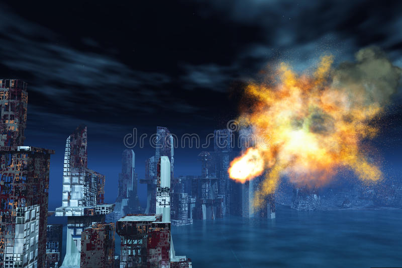 Armageddon a New York illustrazione di stock