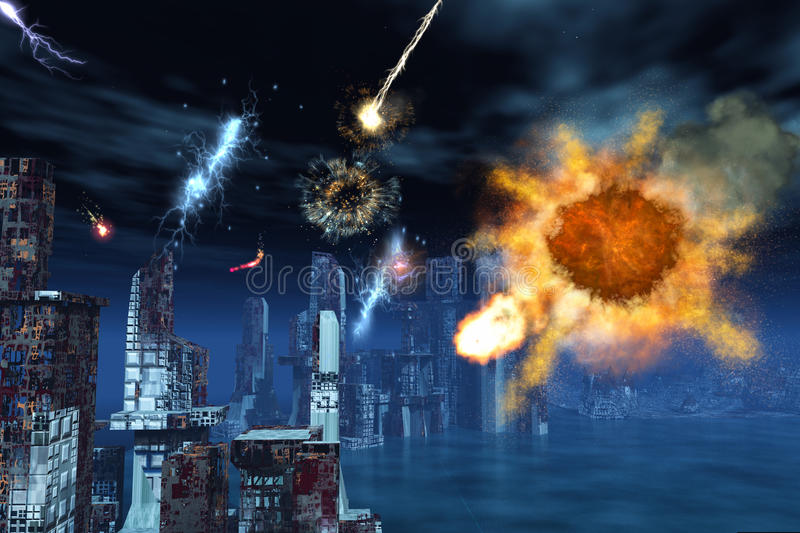Armageddon a New York royalty illustrazione gratis