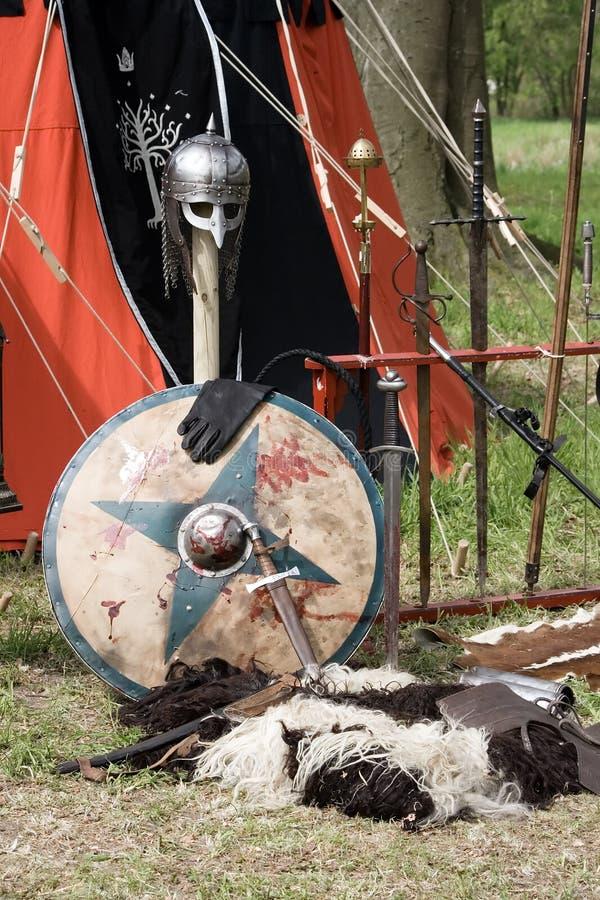 Armamento medieval fotos de stock