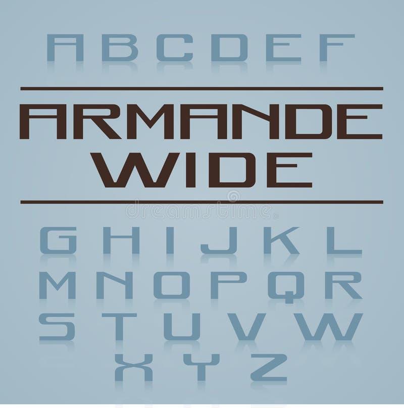 Armande字体字母表 皇族释放例证