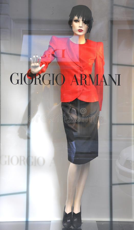 Download Armani Women Fashion Shop In Italy Editorial Stock Image - Image: 15144509