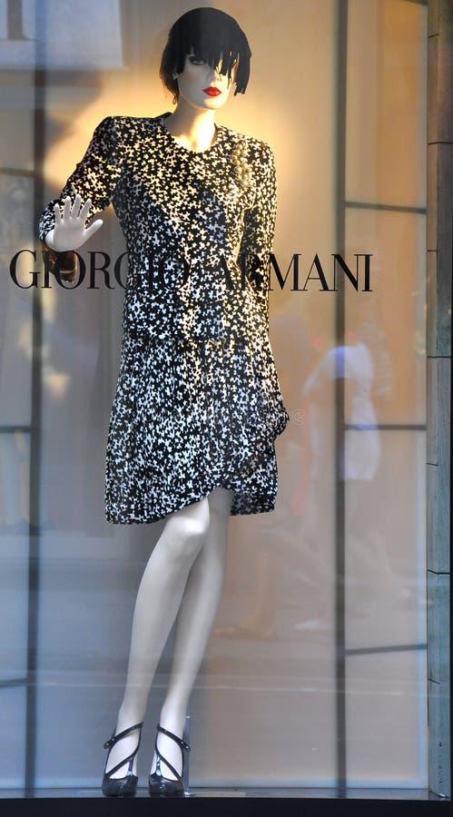 armani mody Italy sklep zdjęcie stock