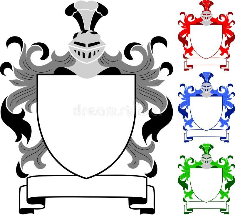 armar coat det heraldiska vapen eps royaltyfri illustrationer