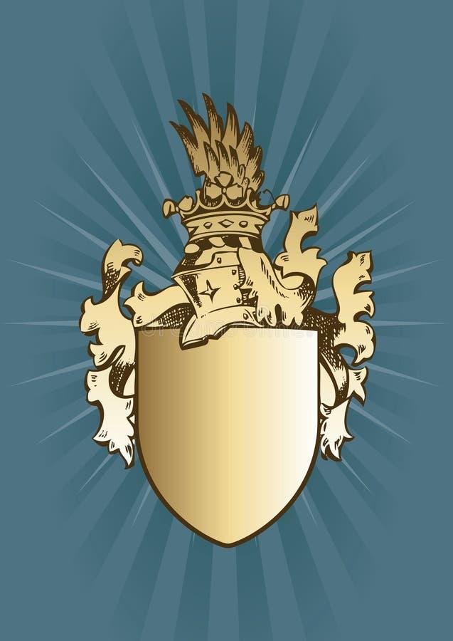 armar coat riddaren royaltyfri illustrationer