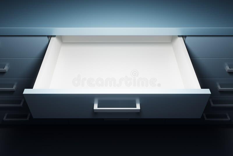 Armario con el cajón abierto libre illustration