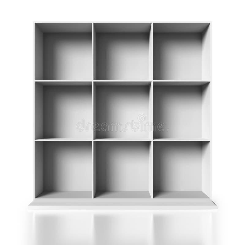 Armario de madera blanco en el fondo blanco libre illustration