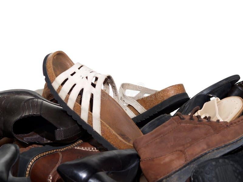 Armario por completo de zapatos imagen de archivo libre de regalías