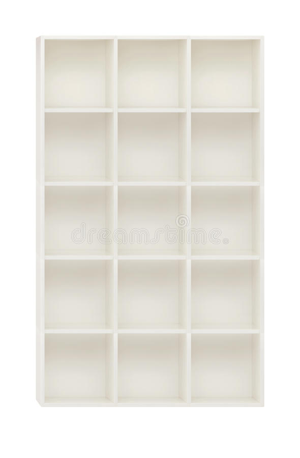 Armario vac o en los estantes de madera blancos aislados - Armario madera blanco ...