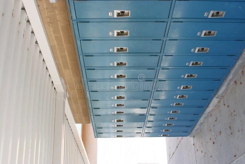 Armarios de la escuela imagen de archivo libre de regalías