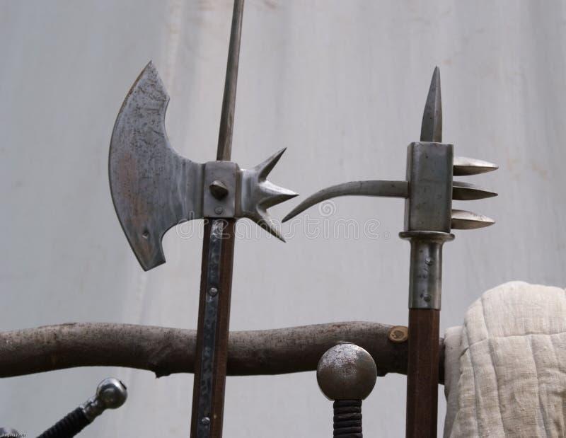 Armas antes de la batalla foto de archivo libre de regalías