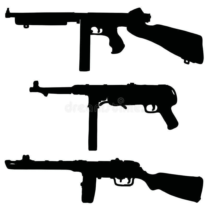 Armas automáticos históricos stock de ilustración
