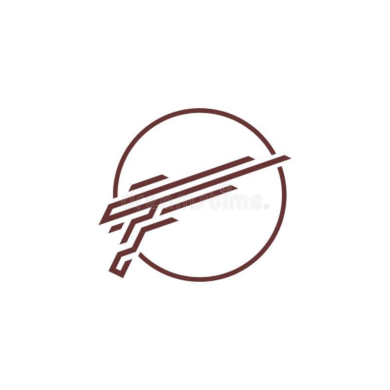 Armas con los conceptos Logo Vector moderno libre illustration