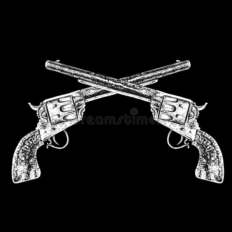 Armas cruzados ilustración del vector