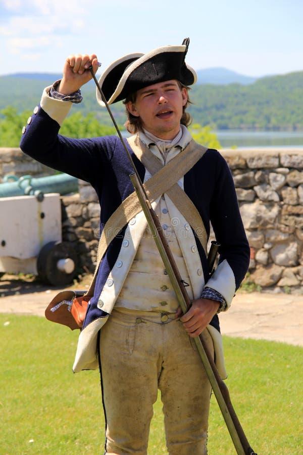 Armas da carga do homem novo, forte Ticonderoga, New York, 2014 fotos de stock royalty free