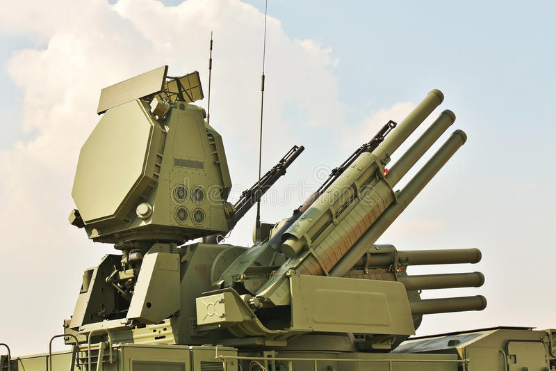 Armas da defesa antiaérea foto de stock royalty free