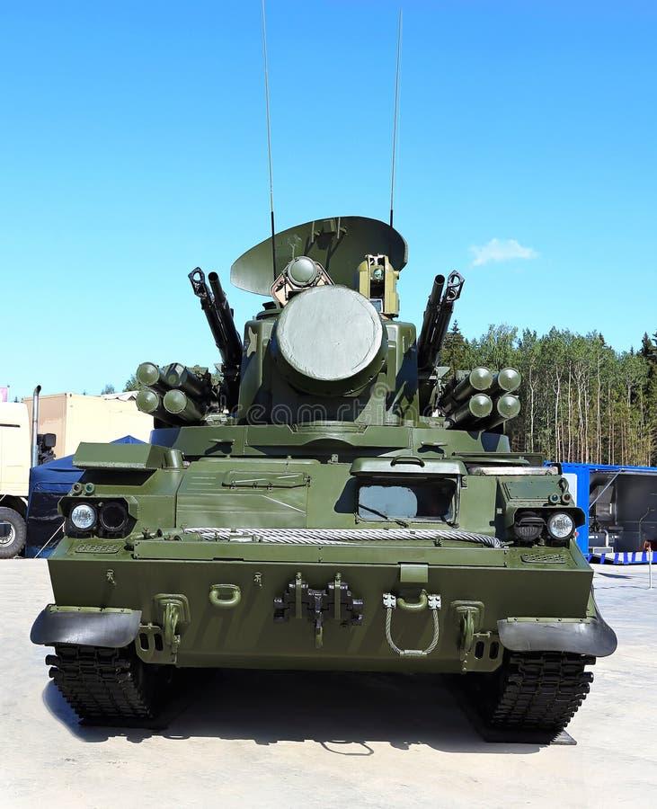 Armas da defesa antiaérea Tunguska foto de stock royalty free