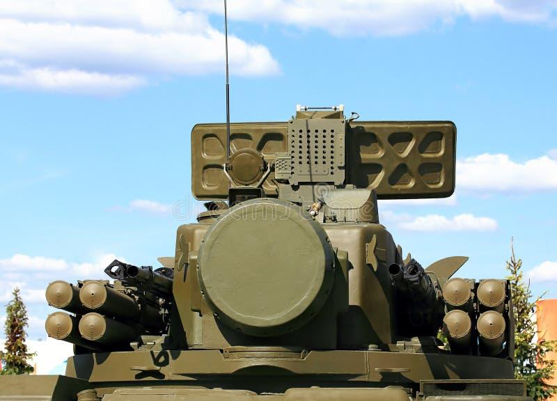 Armas da defesa antiaérea Tunguska imagem de stock