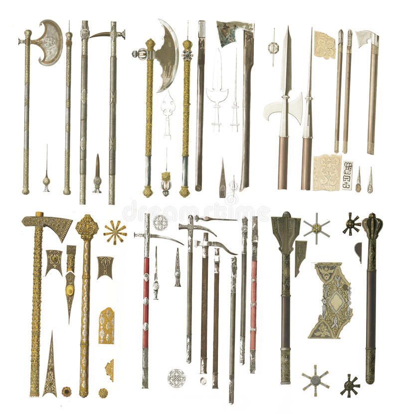 Armas da Idade Média ilustração stock
