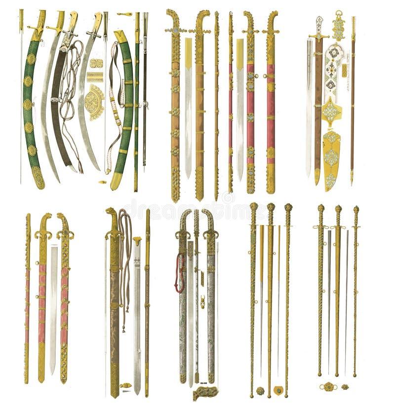 Armas da Idade Média ilustração royalty free